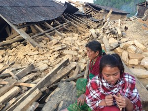 Earthquake damage in Nepal near FFP