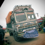 A supply truck from India arrives in Nepal