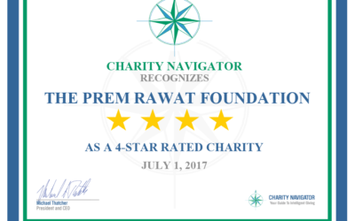 Prem Rawat Foundation Earns Coveted 4-Star Rating From Charity Navigator