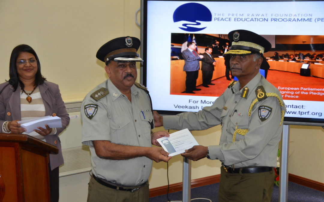 Custodians of Peace: Mauritius Prison Service Officers Participate in Peace Education Program